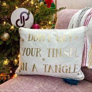 """Levtex """"Don't Get Your Tinsel In A Tangle"""" Pillow"""